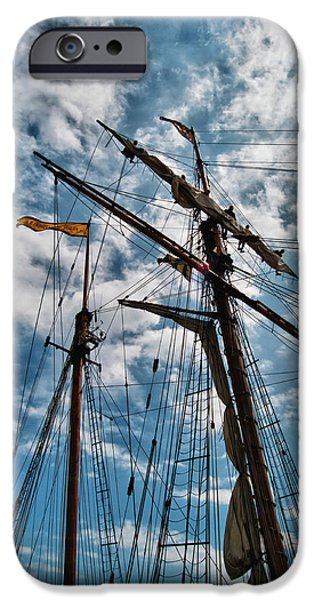 Tall Ship iPhone Cases - Prides Crew 6222 iPhone Case by Guy Whiteley