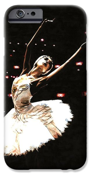 Swans... iPhone Cases - Prima Ballerina iPhone Case by Richard Young