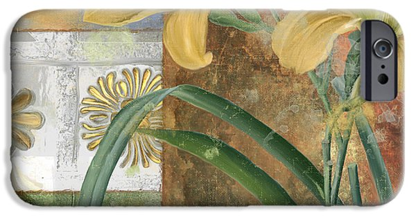 Day Lilies iPhone Cases - Primavera II iPhone Case by Mindy Sommers