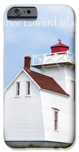 Prince Edward Island iPhone Cases - Prince Edward Island Lighthouse Poster iPhone Case by Edward Fielding