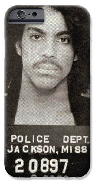 Recently Sold -  - Police iPhone Cases - Prince Mug Shot Vertical iPhone Case by Tony Rubino