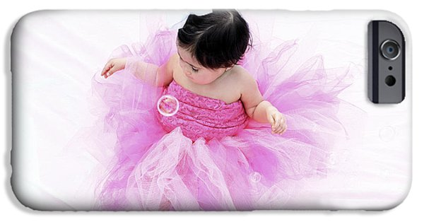 Little Girl iPhone Cases - Princess In Pink iPhone Case by Karry Degruise