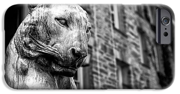 Statue Portrait iPhone Cases - Princeton Tiger Portrait iPhone Case by John Rizzuto