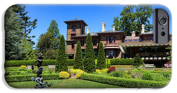 Prospects iPhone Cases - Princeton University Prospect Gardens and House iPhone Case by Olivier Le Queinec
