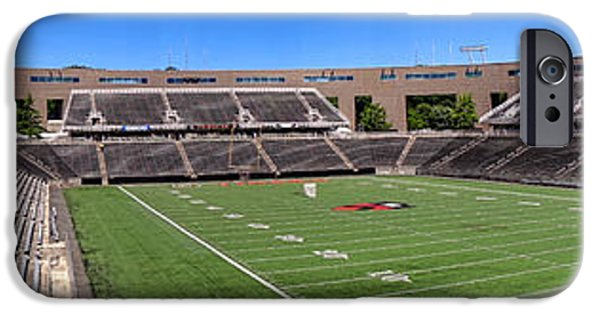 Power iPhone Cases - Princeton University Stadium Powers Field Panoramic iPhone Case by Olivier Le Queinec