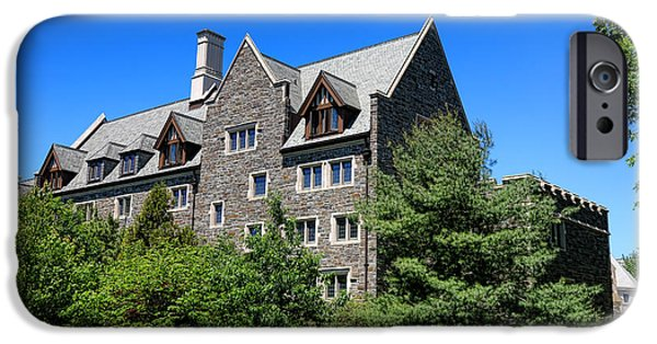 1981 iPhone Cases - Princeton University Whitman College 1981 Hall iPhone Case by Olivier Le Queinec