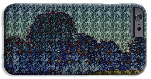 Willow Lake Mixed Media iPhone Cases - Print 1 iPhone Case by James Bologna