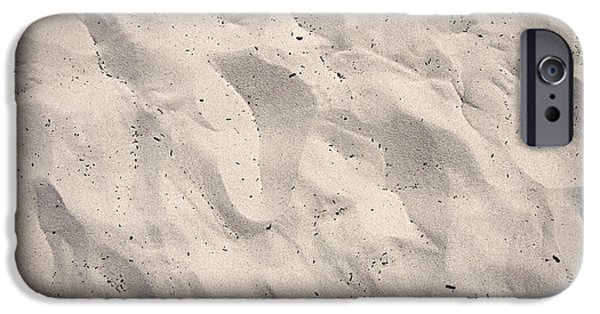 Abstractions iPhone Cases - Prints in Sand - Carmel CA iPhone Case by Steve Ohlsen