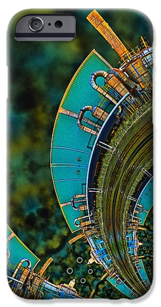 Blue Abstracts iPhone Cases - Processing Point 3 iPhone Case by Wendy J St Christopher