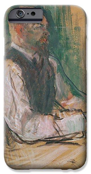 Office Pastels iPhone Cases - Professor Robert Wurz  iPhone Case by Henri De Toulouse-Lautrec