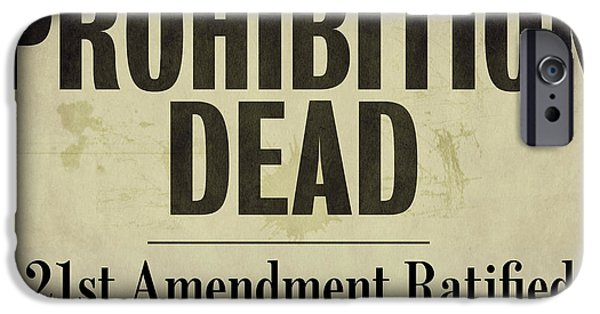 21st iPhone Cases - Prohibition Dead Newspaper iPhone Case by Mindy Sommers