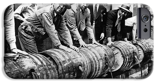 Fed iPhone Cases - PROHIBITION FEDS and CREW DUMP LIQUOR iPhone Case by Daniel Hagerman
