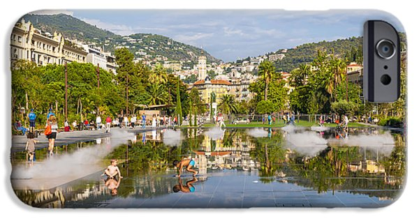 Enjoying iPhone Cases - Promenade du Paillon in Nice iPhone Case by Elena Elisseeva