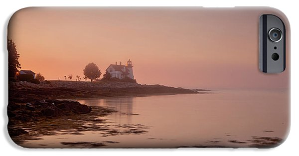 New England Lighthouse iPhone Cases - Prospect Harbor Dawn iPhone Case by Susan Cole Kelly