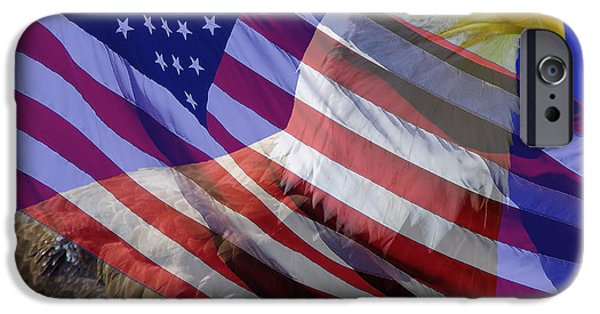 American Flag iPhone Cases - Proud American iPhone Case by D Hackett