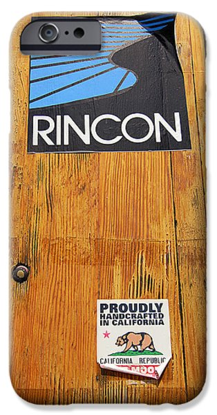 Rincon Beach iPhone Cases - Proudly Handcrafted In California iPhone Case by Ron Regalado