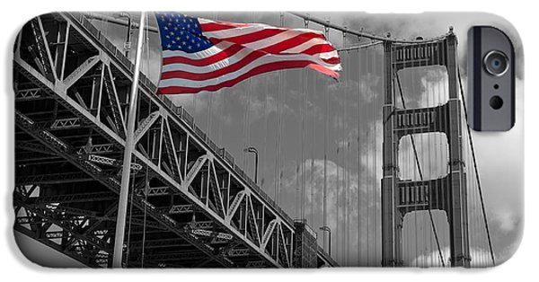 Old Glory iPhone Cases - Proudly Waving  iPhone Case by Mountain Dreams