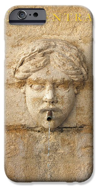 Fontain iPhone Cases - Provence Fountain 1 Carpentras iPhone Case by Philippe Taka