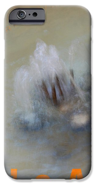Fontain iPhone Cases - Provence Fountain impressions Carpentras iPhone Case by Philippe Taka