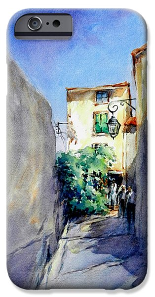 Provence Village iPhone Cases - Provence Walk iPhone Case by Virgil Carter