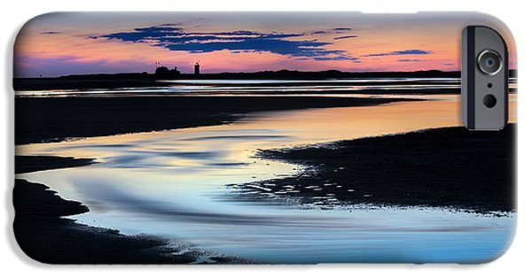 New England Lighthouse iPhone Cases - Provincetown Cape Cod Sunset iPhone Case by Bill Wakeley