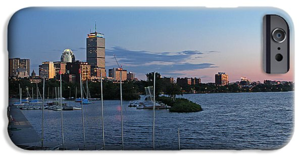 Sailing iPhone Cases - Prudential Center lit in Rainbow Colors iPhone Case by Juergen Roth