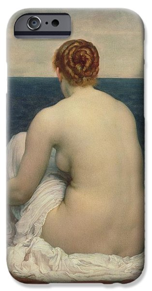 Leighton Frederic 1830-96 iPhone Cases - Psamanthe iPhone Case by Frederic Leighton