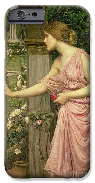 Pre-raphaelites iPhone Cases - Psyche entering Cupids Garden iPhone Case by John William Waterhouse