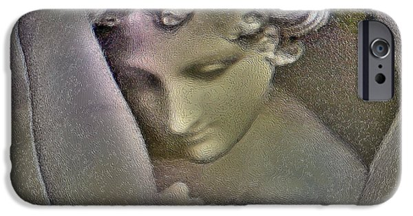 Abstract Digital Photographs iPhone Cases - Psyche Revived by Cupids Kiss  iPhone Case by Lana Art