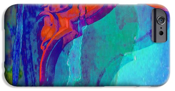 Balcony iPhone Cases - Psychedelic Abstract Art Colorful Pink Blue Window Exotic Travel India 1b iPhone Case by Sue Jacobi