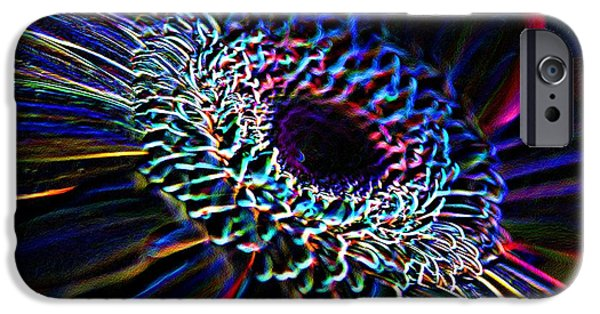 Strange iPhone Cases - Psychedelic Neon iPhone Case by Charles Dobbs