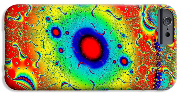 Colorful Abstract iPhone Cases - Psychedelic Solar System iPhone Case by Marv Vandehey
