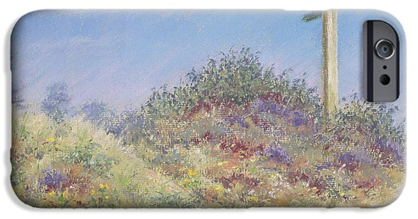 Plant Pastels iPhone Cases - Public Footpath iPhone Case by Anthony Rule