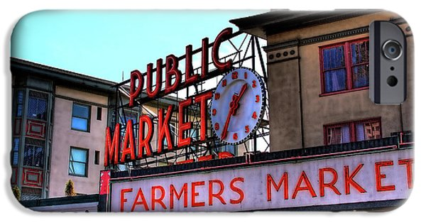 David Patterson iPhone Cases - Public Market II iPhone Case by David Patterson