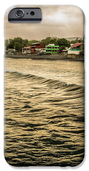 Beach Landscape iPhone Cases - Puerto La Libertad iPhone Case by Totto Ponce