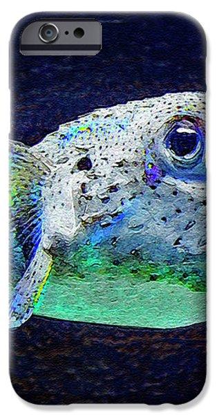 puffer fish iPhone Case by Jane Schnetlage