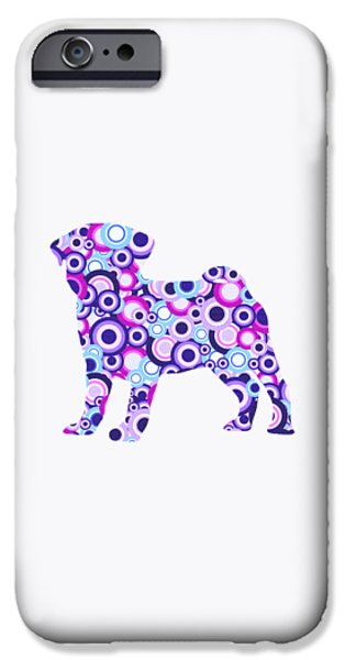 Pug - Animal Art iPhone Case by Anastasiya Malakhova