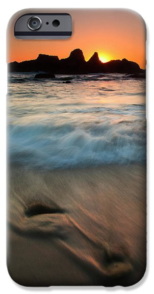 Pulled by the Tides iPhone Case by Mike  Dawson