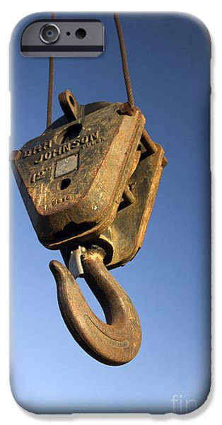 Pulley iPhone Cases - Pulley Hook Hanging iPhone Case by Inga Spence