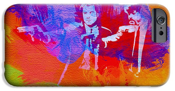 Movie Art iPhone Cases - Pulp Fiction 2 iPhone Case by Naxart Studio