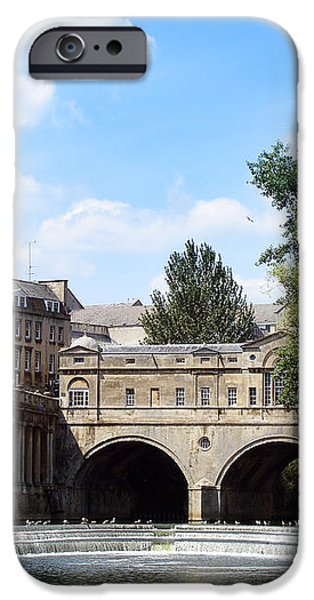 Pulteney bridge and weir iPhone Case by Jane Rix