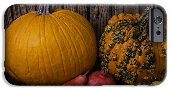 Strange iPhone Cases - Pumpkin Autumn Still Life iPhone Case by Garry Gay