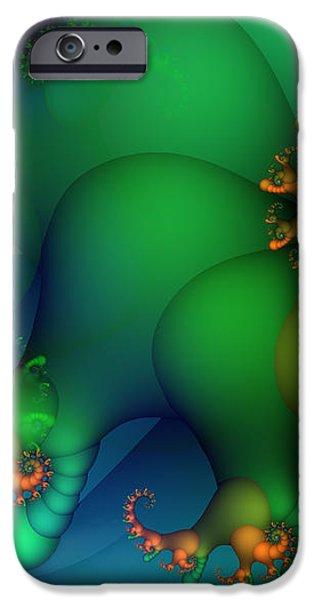 Pumpkin Garden iPhone Case by Jutta Maria Pusl