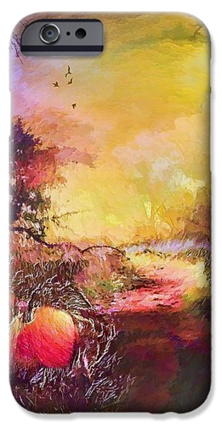 Pathway iPhone Cases - Pumpkin patch iPhone Case by Valerie Anne Kelly