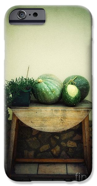 Still Life iPhone Cases - Pumpkin Table iPhone Case by Carlos Caetano
