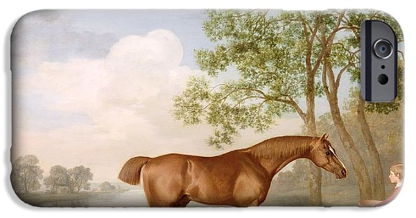 Reservoir iPhone Cases - Pumpkin with a Stable-Lad iPhone Case by George Stubbs