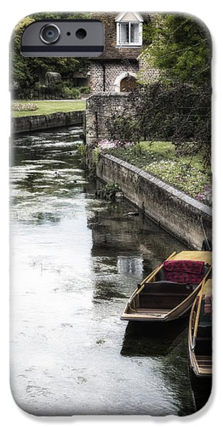 Punting iPhone Cases - Punting Boats iPhone Case by Joana Kruse