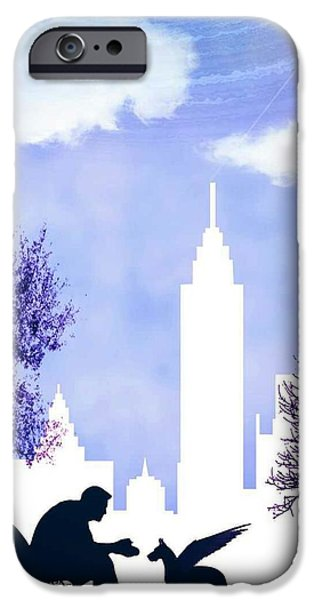 Boxer Digital Art iPhone Cases - Pupasus in New York City iPhone Case by Randolph Ping