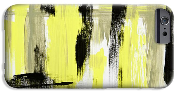 Modern Abstract iPhone Cases - Pure Spirit Abstract iPhone Case by Christina Rollo
