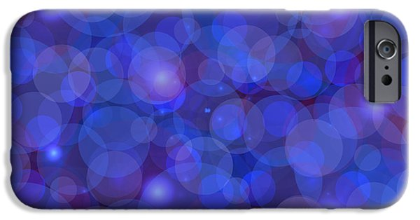Psychology iPhone Cases - Purple And Blue Abstract iPhone Case by Frank Tschakert